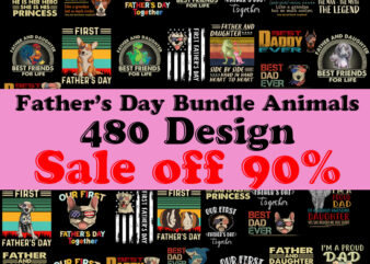 Father's day Bundle Animals 480 Design PNG, Dad PNG, Dog PNG, Elephant PNG, Lion PNG, Llama PNG Instant Download