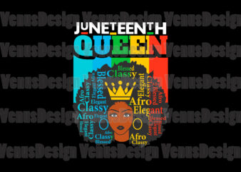 Juneteenth Black Queen Editable Design