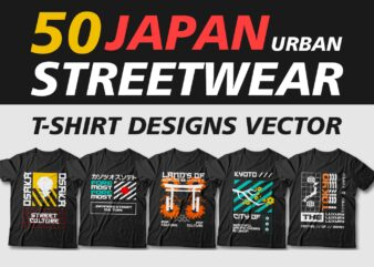 Japan urban streetwear t shirt design bundle, tokyo, osaka, kyoto, metropolitan, youth, urban design for t shirt, svg, png, pod