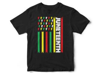 Juneteenth Flag T-Shirt Design, Juneteenth, Black, Juneteenth t-shirt design, African American t-shirt, black lives matter, Black history t-shirt design, Juneteenth independence day t-shirt design, Black Freedom, Black Women, Melanin, Black American t shirt design,