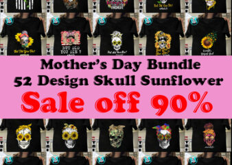 Happy Mother's Day Bundle, Mom PNG, Momlife PNG Bundle, Mother's Day PNG, Sunflower PNG, Skull Bandana PNG Instant Download