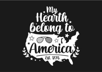 My Hearth Belong To America – American Typography
