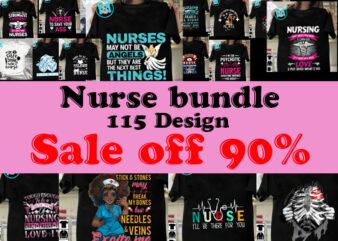 Nurse SVG bundle design – Nurse Bundle SVG file for Cricut – Nurse shirt SVG bundle – Popular nurse Digital Download