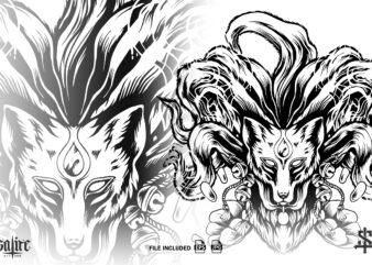 Ninetales Fox Silhouette
