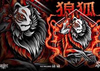 The Fox Kitsune on Fire