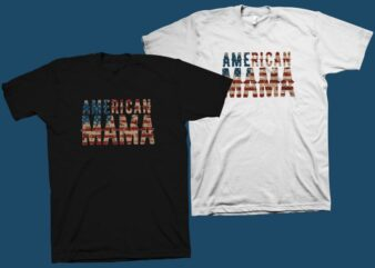 American Mama t shirt design for commercial use