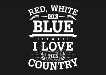 Red White Or Blue – American Typography