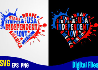 4th of July Heart svg, USA Flag, Independence Day design svg eps, png files for cutting machines and print t shirt designs for sale t-shirt design png