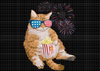 Cat 4th of July PNG, Cat 4th of July USA American Flag PNG, Cat PNG, 4th of July PNG, 4th of July vector