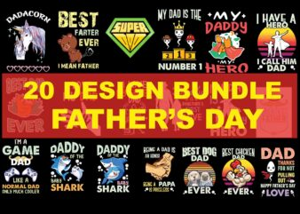 20 Design Bundle Father's Day, Father's Day Bundle, Father's Day Design Bundle, Father's Day Design
