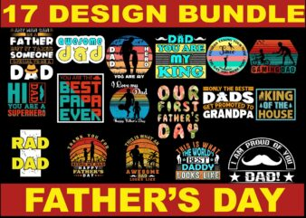 17 Design Bundle Father's Day, Father's Day Bundle, Father's Day Design Bundle, Father's Day Design