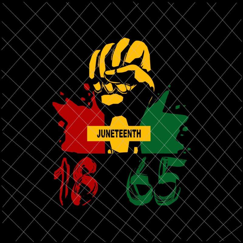 Juneteenth 1865 African American Power Svg, Juneteenth Svg ...