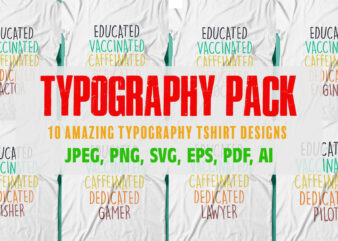 Amazing colorful Typography pack for sale.