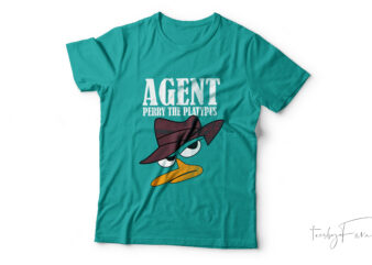 Agent| Perry the platypus t-shirt design for sale.