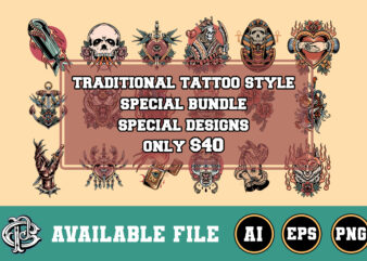 traditional tattoo style special design bundle