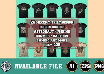 26 mixed illustration design bundle