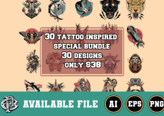 30 tattoo inspired special bundle