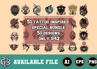 51 tattoo inspired design bundle