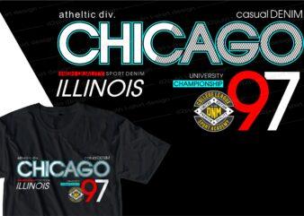 chicago urban street t shirt design, urban style t shirt design,urban city t shirt design,
