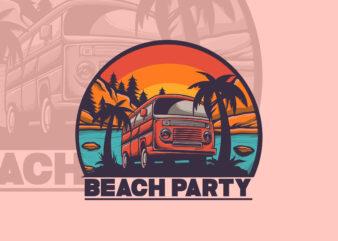 SUMMER PARTY T-shirt Design