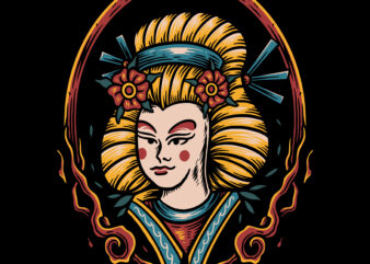 Geisha illustration tshirt design