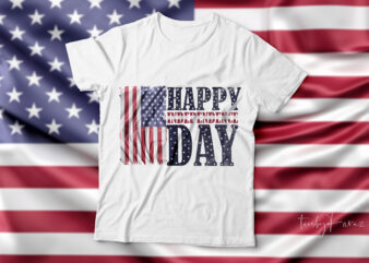Happy independence day| 4th of July| t-shirt design for sale.