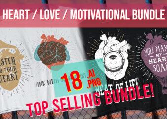 Heart / Love / Passion / Amor / Valentines / Motivational / Romantic Bundle AI + PNG