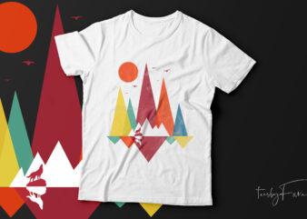 Cool illustration art t-shirt design for sale.