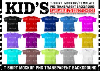 KID T SHIRT MOCKUP / TEMPLATE FRONT BACK SET COLOR