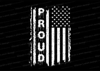 proud america flag t shirt design