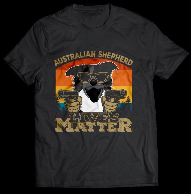 22 Dog lives matter TSHIRT DESIGNS BUNDLE