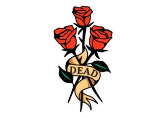 3 Roses Tattoo Design