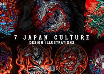 Japan Culture Illustrations Bundles