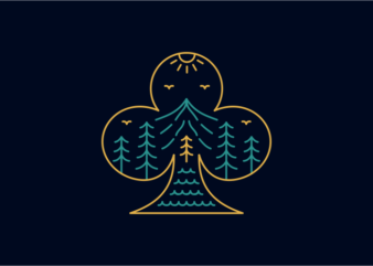 Playing Card Club Symbol of Nature