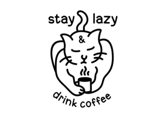 Lazy Cat Drink Coffee 3