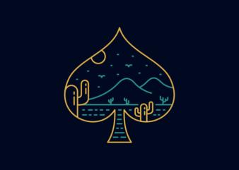 Playing Card Spade Symbol of Nature