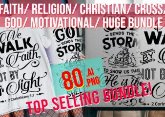 Faith / Religion/ Christian/ Cross/ God / Motivational/ Big Bundle Best Seller Top Trending