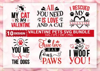 Valentine Pets SVG Bundle t shirt vector art