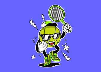 PLAY TENNIS MASCOT
