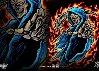 Death Monster Mascot Illustration