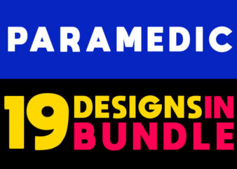 19 Paramedic Designs in Bundle