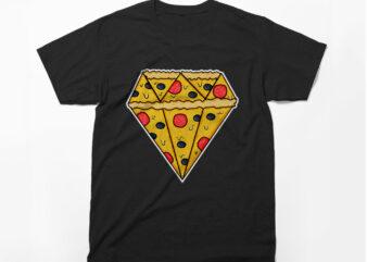 Pizza Diamond, Pizza Lover, Cheese, T-Shirt Design, Pizza Lover, Pizza Vector,Love cheese, Vector t-shirt design