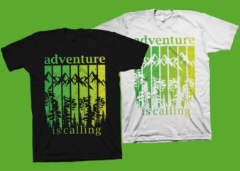 Adventure is calling t-shirt design, adventure svg png, hiking t-shirt design, outdoor t-shirt design, adventure t-shirt design for sale