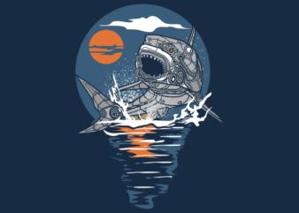 SHARK STEAMPUNK ART