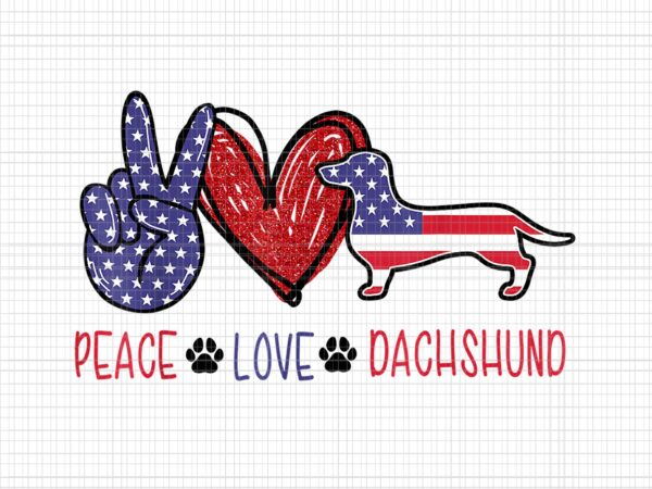 Peace love dachshund 4th of july png, peace love dachshund 4th of july patriotic american usa flag, 4th of julyPNG, 4th of july vector