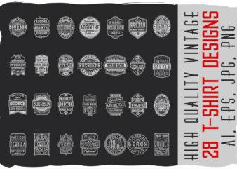 28 t-shirt designs BUNDLE