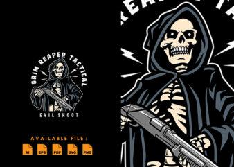 Grim Reaper Tactical T-shirt Design
