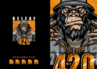 BELEAF, Gorilla T-shirt Design
