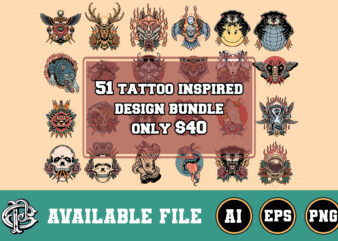 51 tattoo inspired design bundle only $40