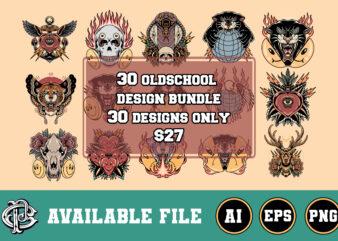30 oldschool design bundle